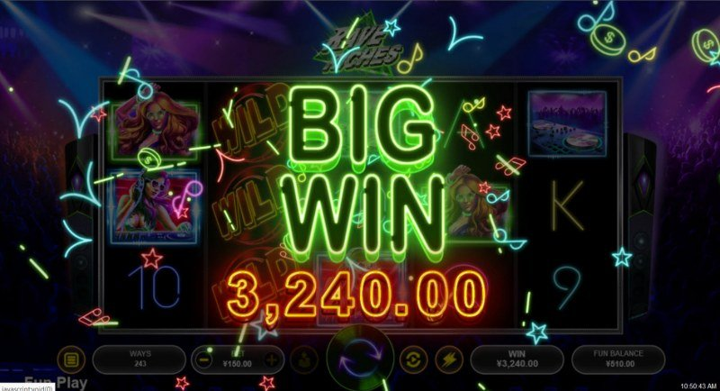 Rave Riches :: Big Win