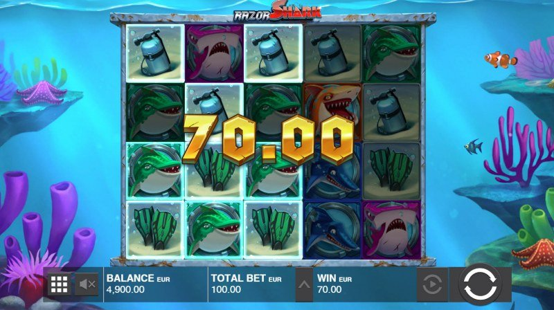 Razor Shark :: Multiple winning paylines