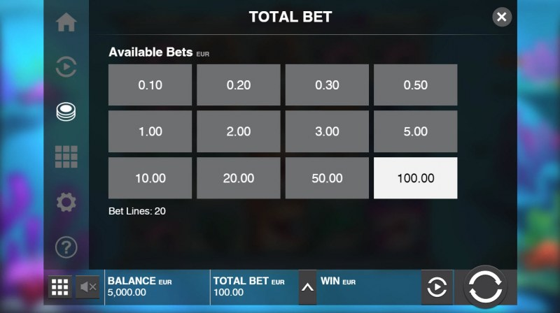 Razor Shark :: Available Betting Options