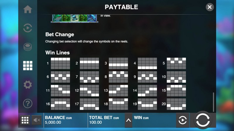 Razor Shark :: Paylines 1-20