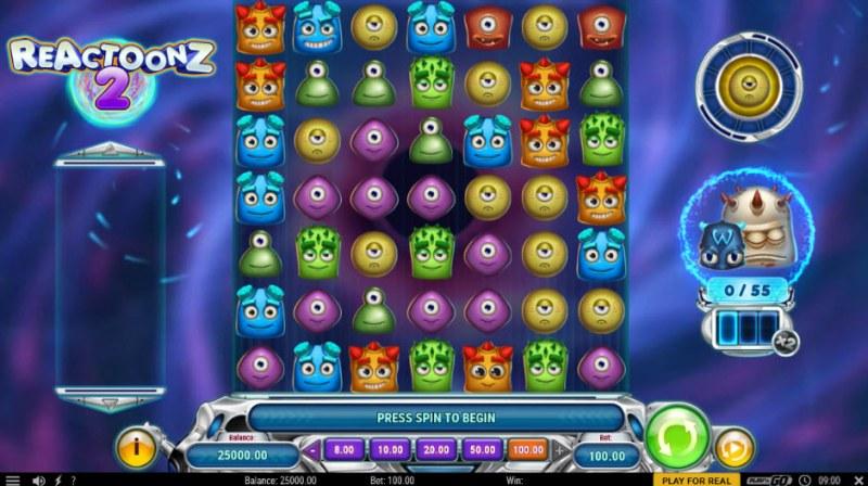 Reactoonz 2 :: Main Game Board