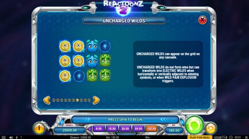 Reactoonz 2 :: Uncharged Wilds