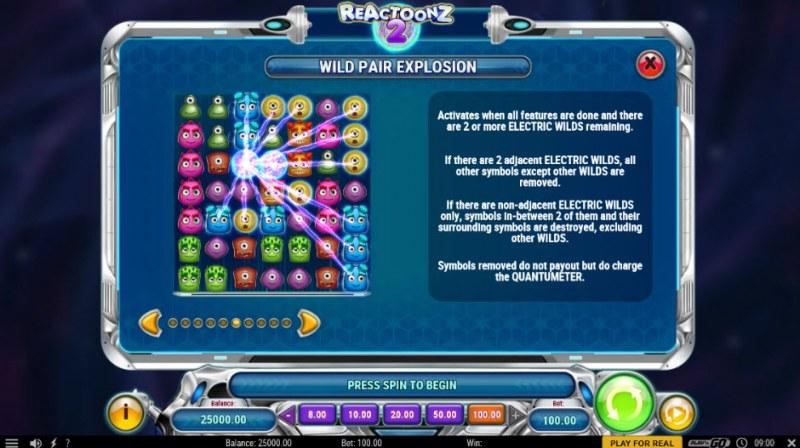 Reactoonz 2 :: Wild Pair Explosion