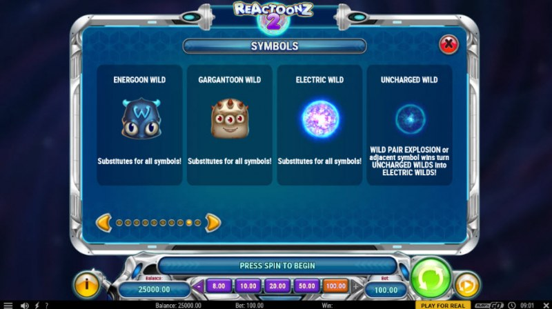Reactoonz 2 :: Wild Symbols Rules