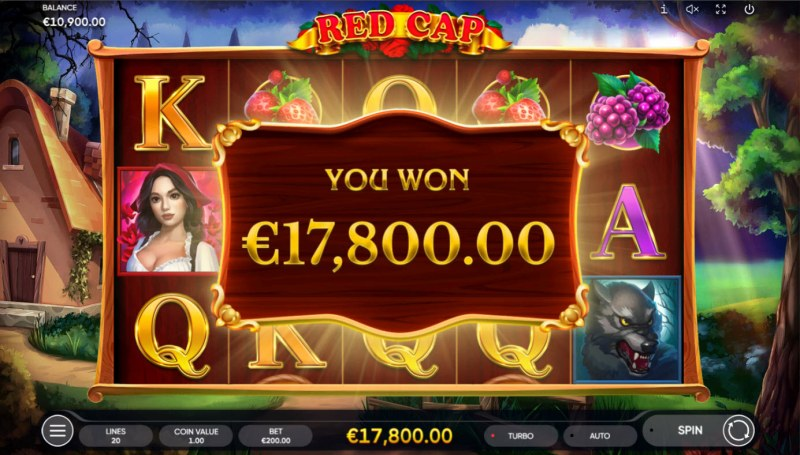 Red Cap :: Total Free Spins Payout