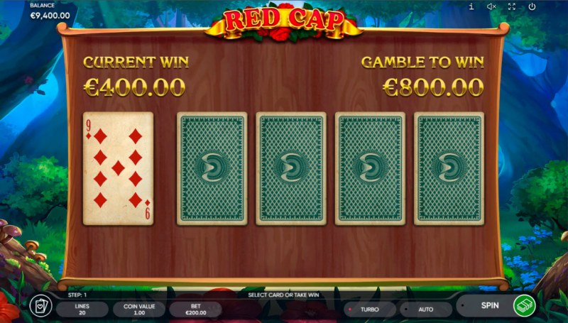 Red Cap :: Red or Black Gamble Feature