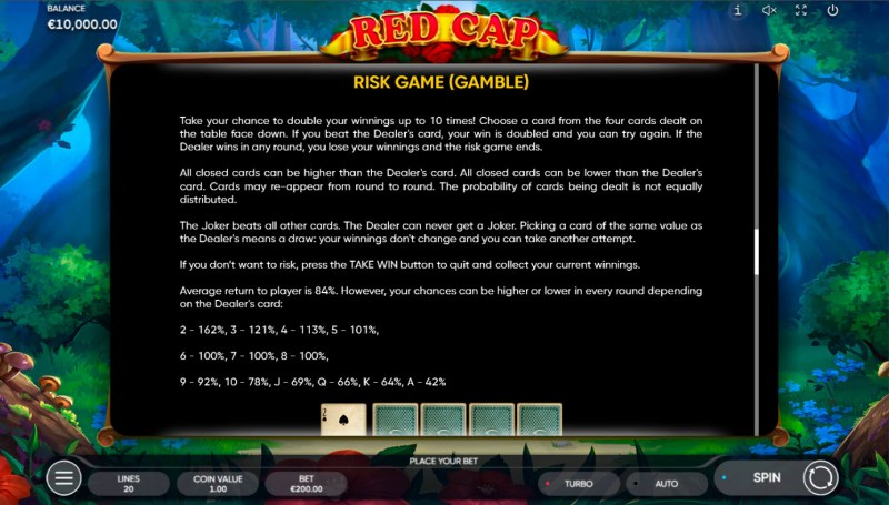 Red Cap :: Gamble feature