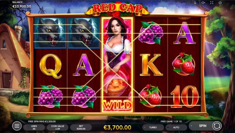 Red Cap :: Free Spins Game Board
