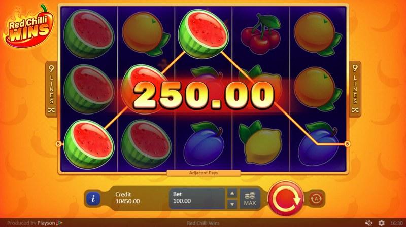 Red Chilli Wins :: Three of a kind