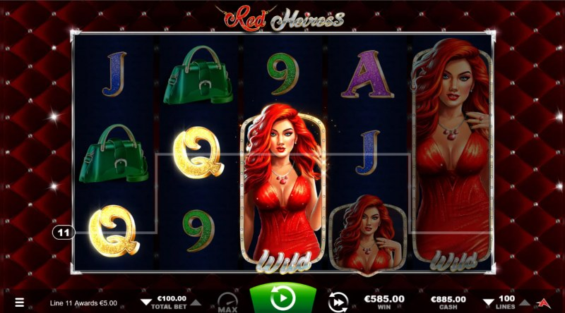 Red Heiress :: A three of a kind win