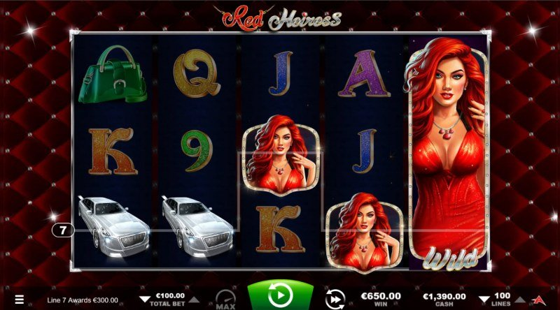 Red Heiress :: A five of a kind win