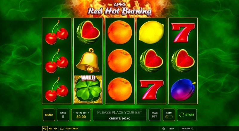 Red Hot Burning :: Main Game Board