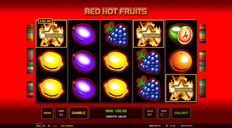 Red Hot Fruits :: Scatter Win