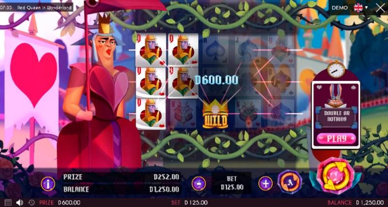 Red Queen in Wonderland :: Multiple winning paylines