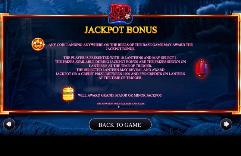 Red Silk :: Jackpot Rules