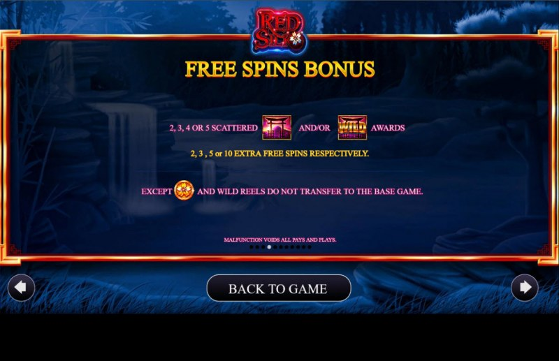 Red Silk :: Free Spin Feature Rules