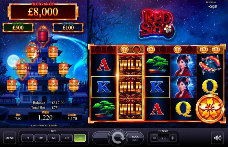 Red Silk :: Multiple winning paylines