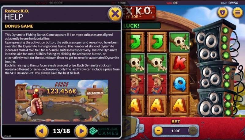 Rednex K.O. :: Dynamite Fishing Bonus Game