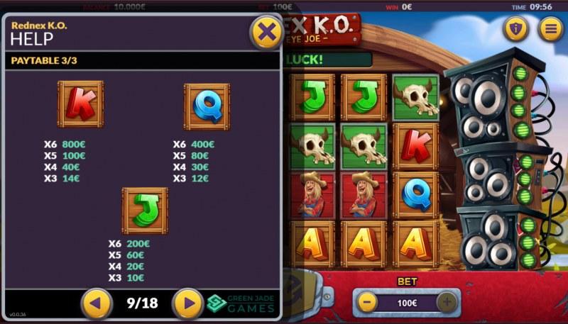Rednex K.O. :: Paytable - Low Value Symbols
