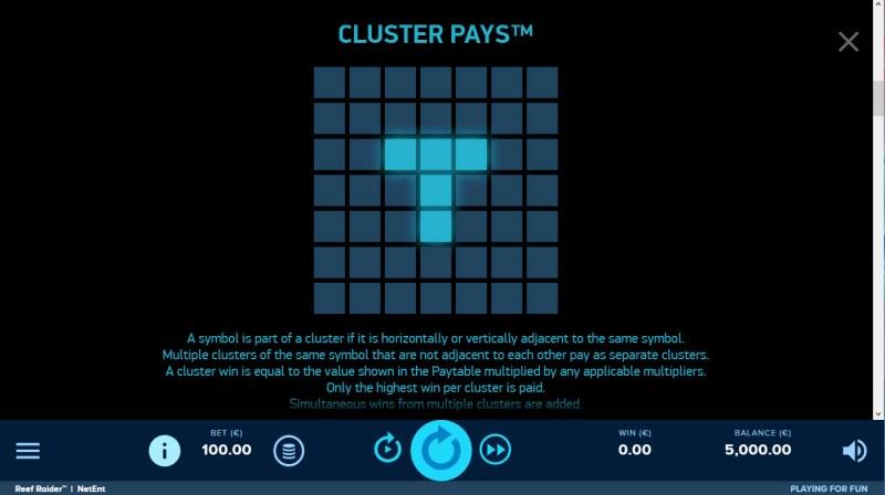 Reef Raider :: Cluster Pays