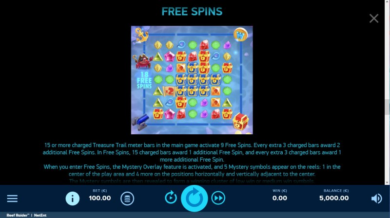 Reef Raider :: Free Spin Feature Rules