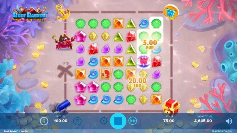 Reef Raider :: Multiple winning combinations