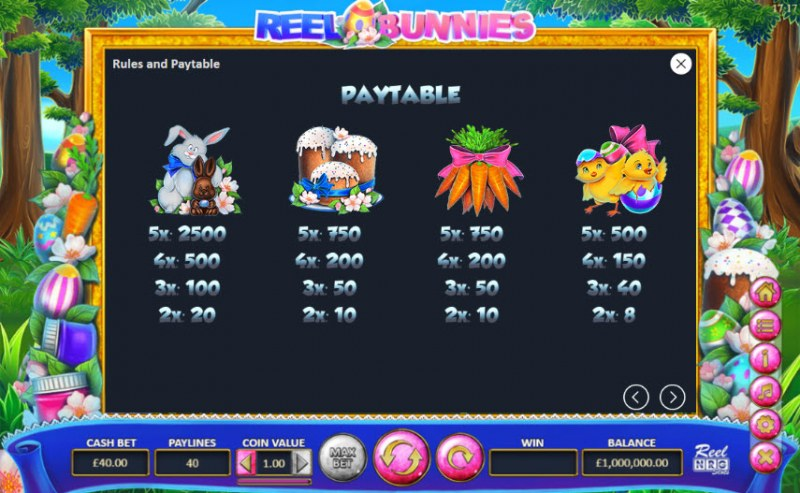 Reel Bunnies :: Paytable - High Value Symbols