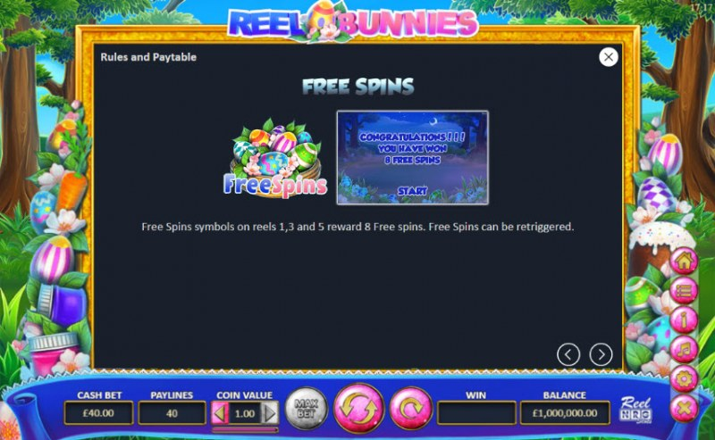 Reel Bunnies :: Free Spins Rules