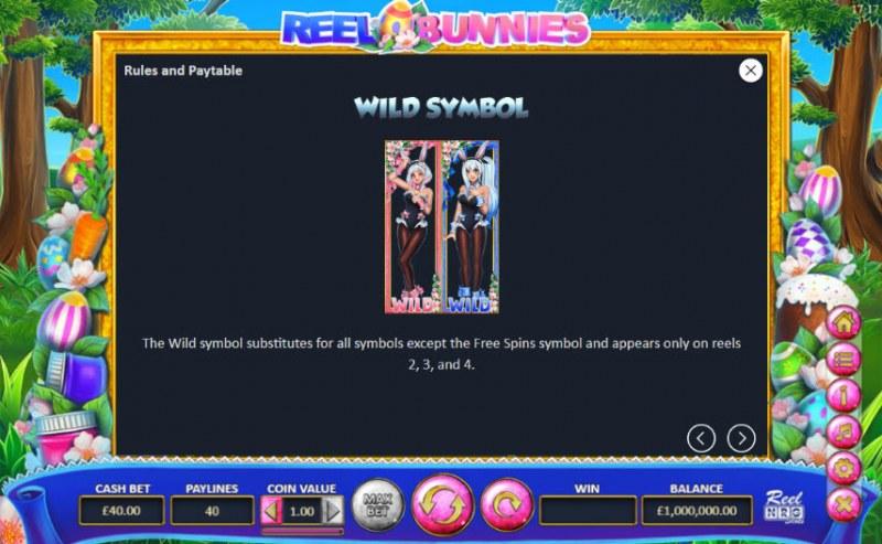 Reel Bunnies :: Wild Symbols Rules