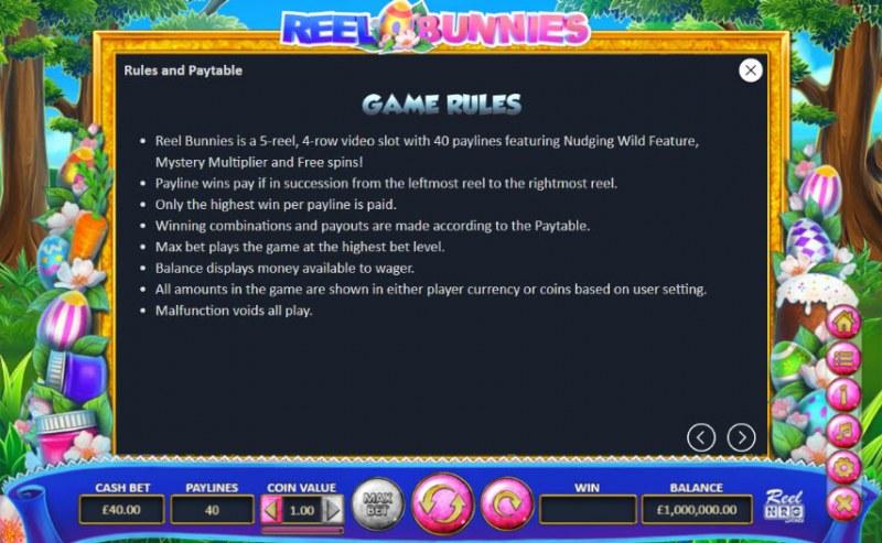 Reel Bunnies :: General Game Rules