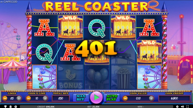 Reel Coaster :: Multiple winning paylines