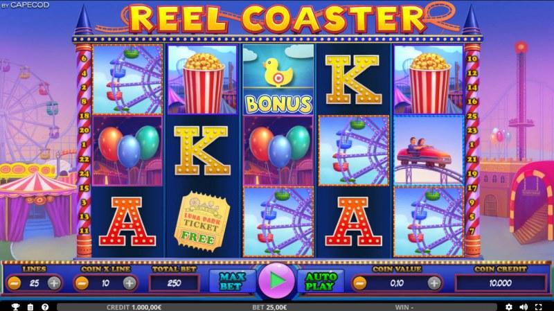 Reel Coaster :: Main Game Board