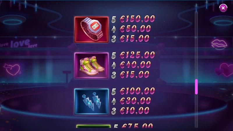 Reel Desire :: Paytable - Medium Value Symbols