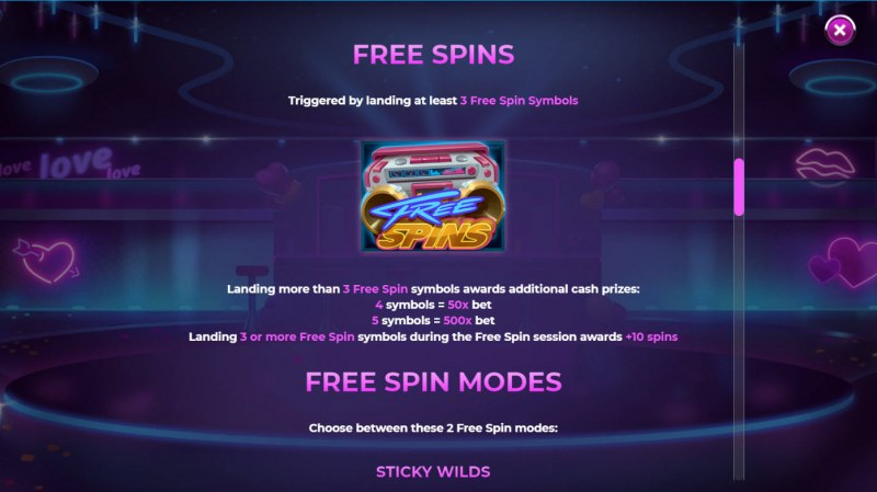 Reel Desire :: Free Spin Feature Rules