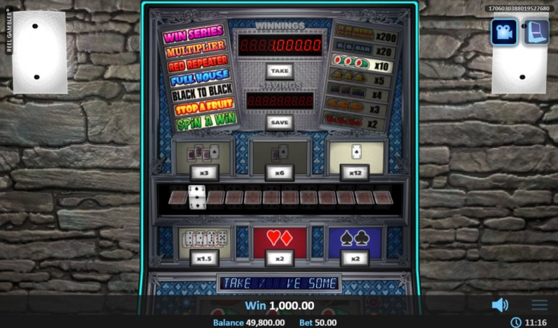 Reel Gambler :: Gamble Feature Screen