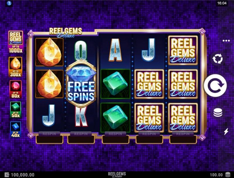 Reel Gems Deluxe :: Main Game Board
