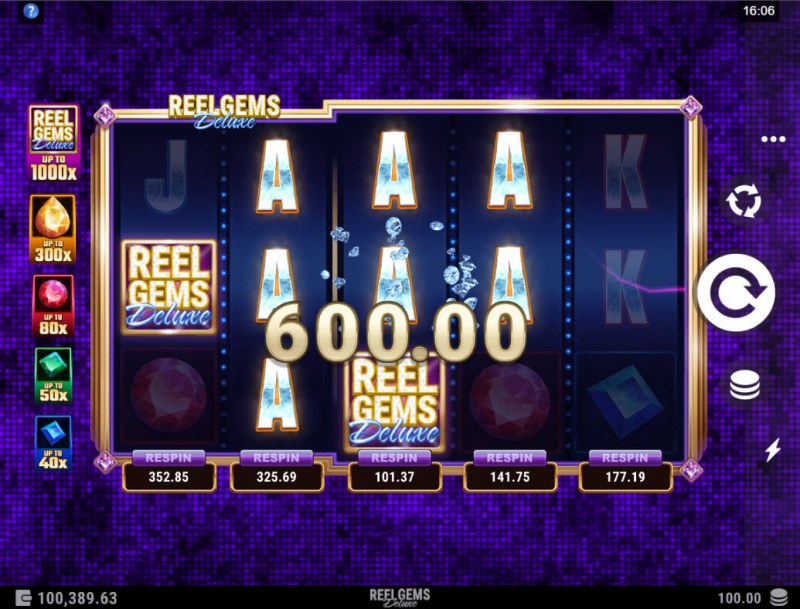 Reel Gems Deluxe :: Multiple winning paylines