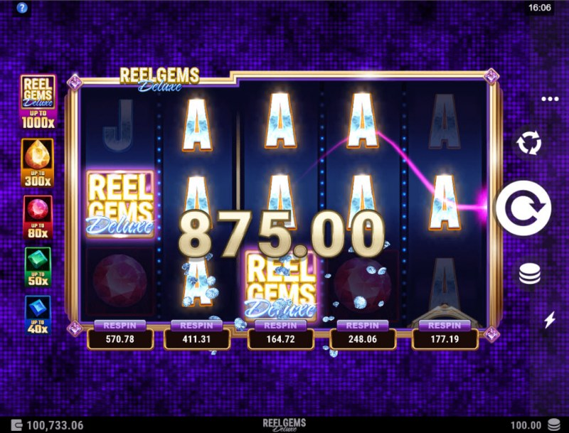 Reel Gems Deluxe :: A five of a kind win