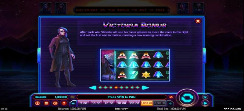 Reel Hero :: Victoria Bonus