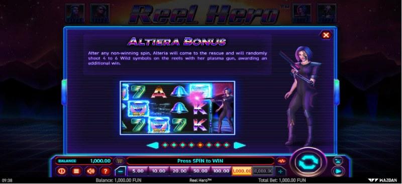 Reel Hero :: Altiera Bonus