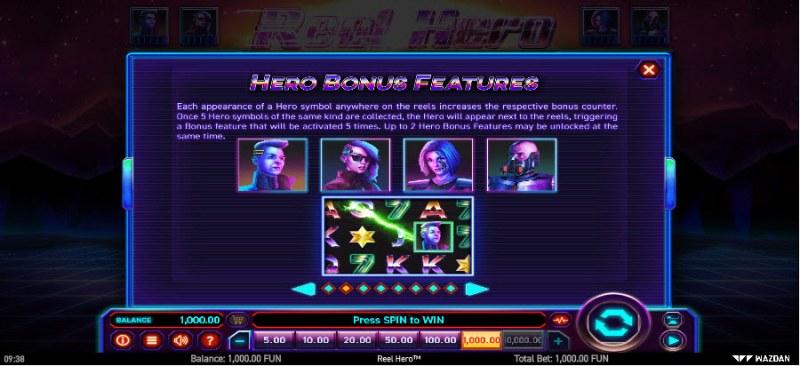 Reel Hero :: Hero Bonus Feature