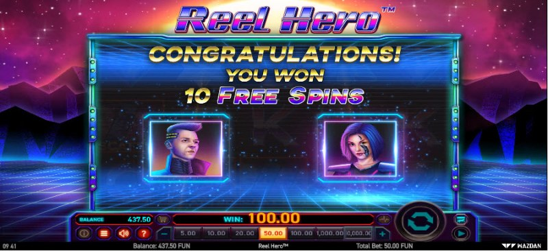 Reel Hero :: 10 Free Spins Awarded