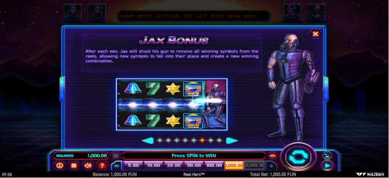 Reel Hero :: Jax Bonus