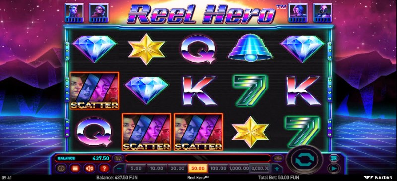 Reel Hero :: Scatter symbols triggers the free spins feature