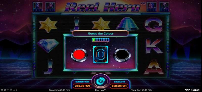 Reel Hero :: Black or Red Gamble Feature