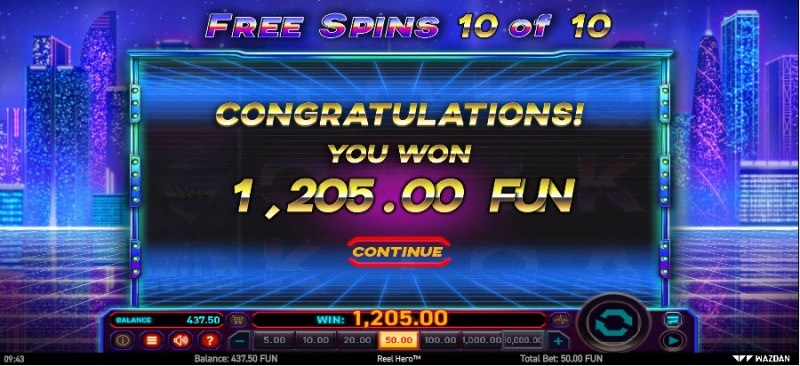 Reel Hero :: Total free spins payout