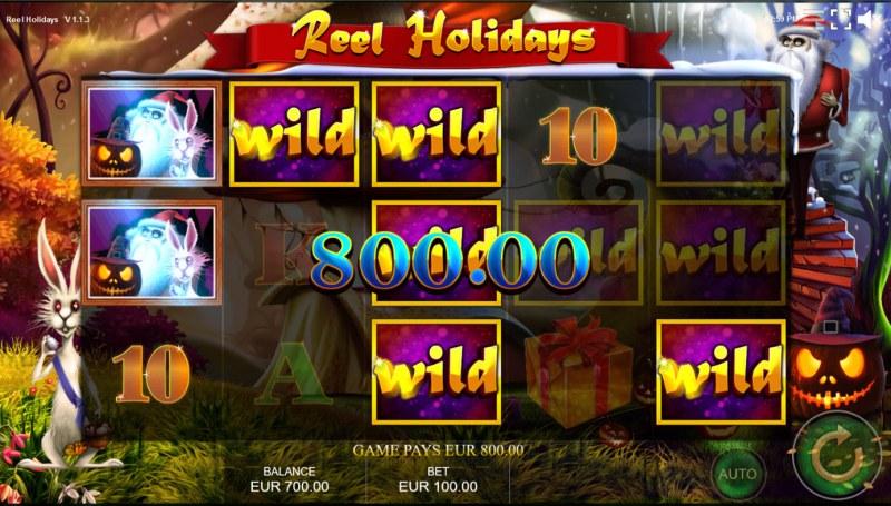 Reel Holidays :: Multiple winning paylines