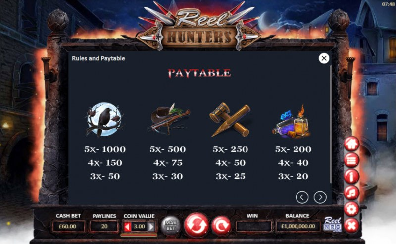 Reel Hunters :: Paytable - High Value Symbols