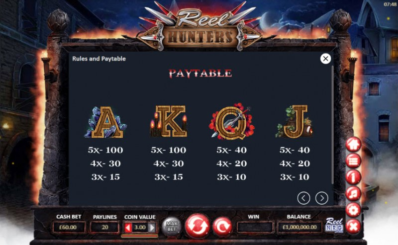 Reel Hunters :: Paytable - Medium Value Symbols