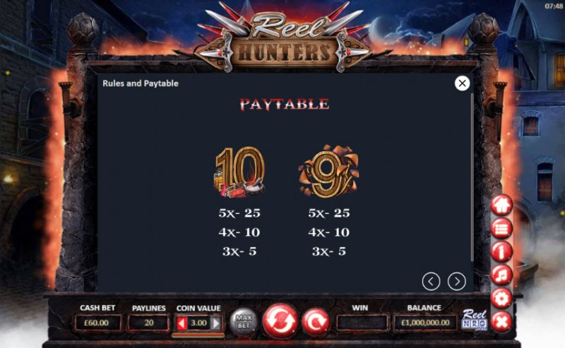 Reel Hunters :: Paytable - Low Value Symbols
